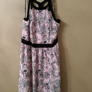 NWOT Pink and Black Cocktail Dress